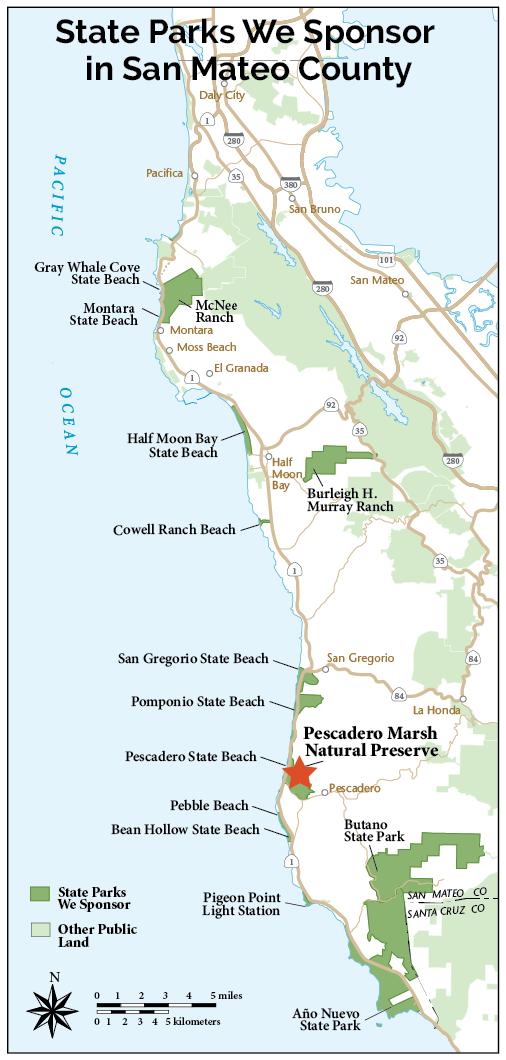 Pescadero Marsh Natural Preserve   Coastside State Parks Association